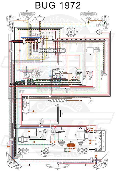 vw tech article 1972 wiring diagram