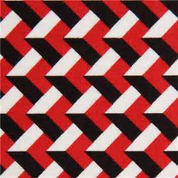 Red Black and White Pattern Fabric
