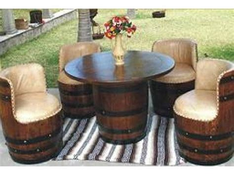 wine barrel furniture  ideas   wine barrel