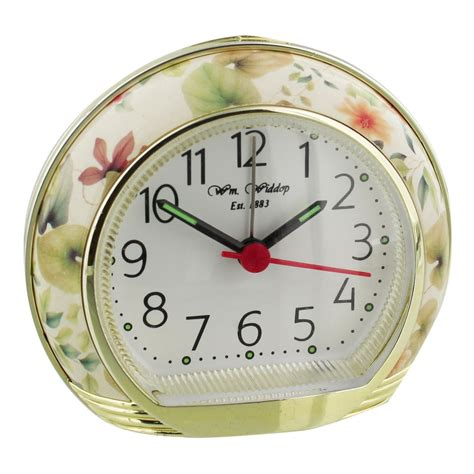 alarm clock with light wm widdop floral flower alarm clock with light snooze