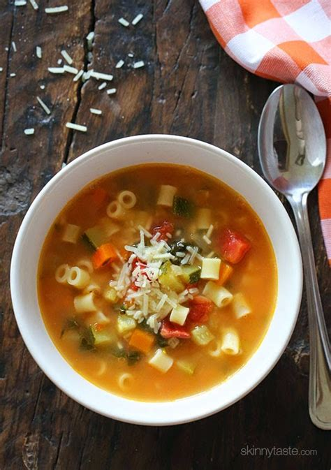 crock pot or stovetop vegetarian minestrone soup from skinnytaste cooker or pressure cooker