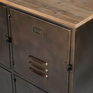 Sapin Metal Maison Du Monde : buffet indus roulettes 6 portes en m tal et sapin en 2018 furnitures pinterest portes en ~ Teatrodelosmanantiales.com Idées de Décoration