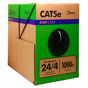 Southwire 1 000 Ft  Gray 24  4 Solid Cu Cat5e Cmr  Riser