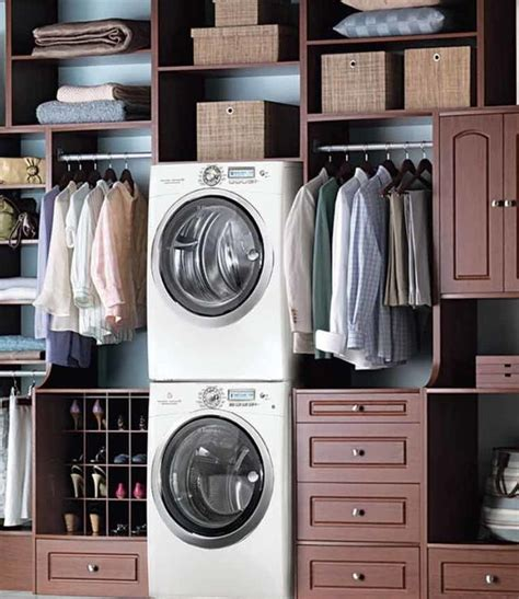 Closet Size For Stackable Washer And Dryer by 17 Best Ideas About Washer Dryer Closet On