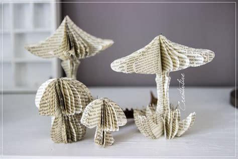 sterne basteln aus buchseiten le und papierpilze creativlive
