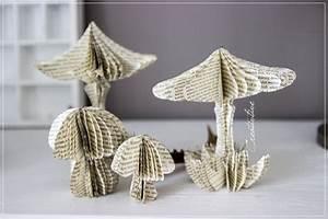 Basteln Mit Buchseiten : champignons de papier sakarton ~ Eleganceandgraceweddings.com Haus und Dekorationen