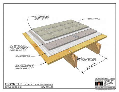 floor tile  cbu  wood subfloor
