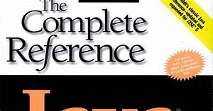 The Complete Reference Java By Herbert Schildt 5th Edition