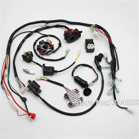 full electric gy6 125cc 150cc loom magneto stator atv wiring harness 6 coil new in
