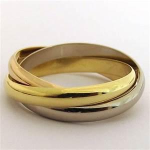 Bague 3 Ors Cartier : bague cartier trinity 3 ors alliance 1163 bijoux ~ Carolinahurricanesstore.com Idées de Décoration
