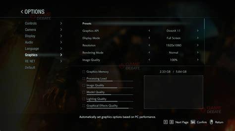 resident evil  remake pc graphics settings