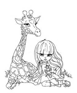 Giraffe Coloring Pages Line Art