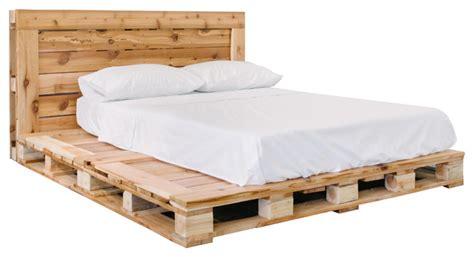 pallet bed platfrom frame  headboard queen rustic