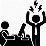 Boss Employee Bad Angry Icon Anger Bosses