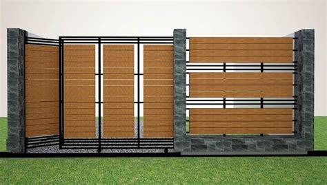trend simple minimalist house fence design  ideas