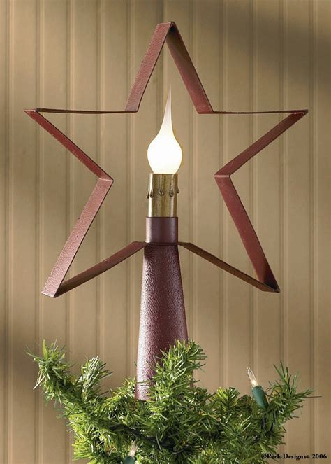 Christmas Tree Decorations   Red Star Tree Top Lamp