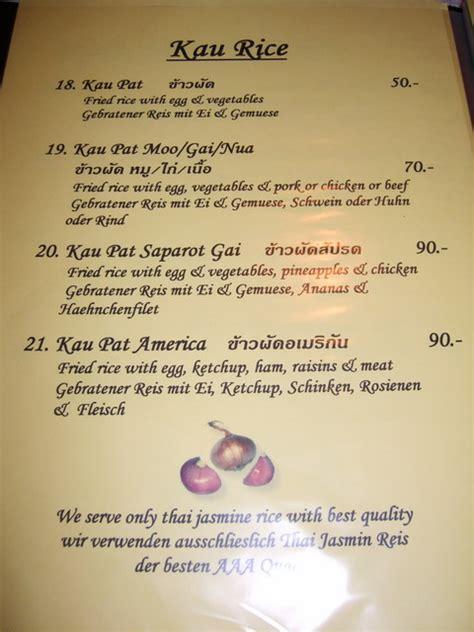 german cuisine menu kanya 39 s garden restaurant jomtien