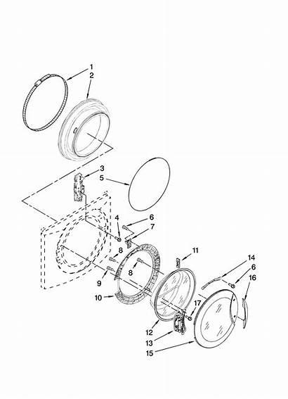 Parts Kenmore Washer Elite Door Dryer Diagram