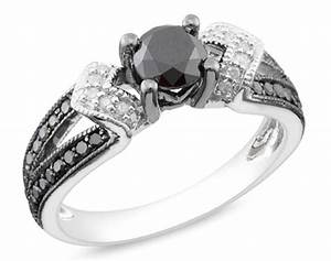 black diamond wedding rings for her With black diamond wedding rings for her