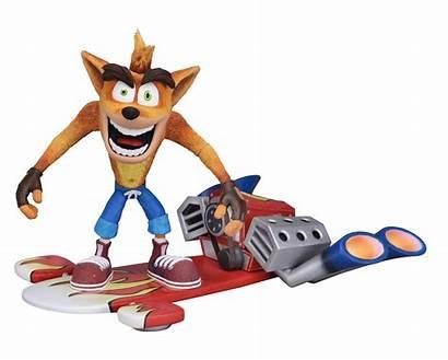 Crash Bandicoot Figure Action Hoverboard Jet Deluxe