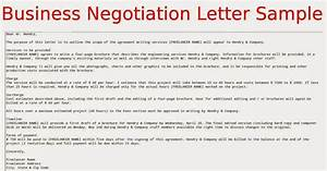 Business negotiation letter sample samples business letters for Negotiation contract template
