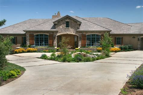 residential home designers driveway layout options landscaping