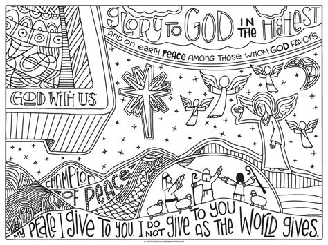 2019 Advent Coloring Posters Illustrated Childrens Ministry
