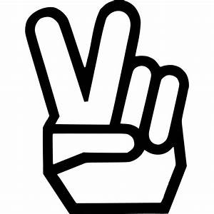 Peace Fingers Symbol Die-Cut Decal Car Window Wall Bumper