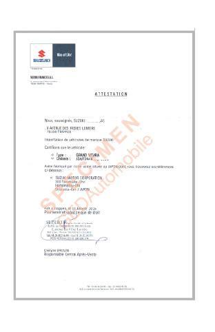 chambre de commerce certificat d origine attestation d 39 origine suzuki pour les douanes