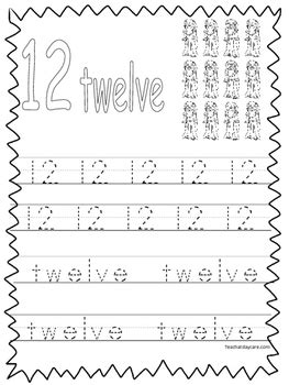 single bible curriculum worksheet trace the number 12 preschool math worksheet