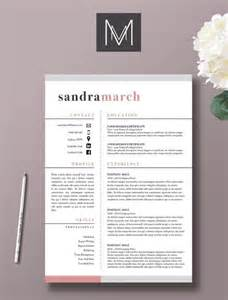 creative resume design and word design on