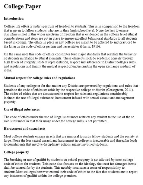 College Paper Essay Format by How To Write A College Paper College Writing Tips At
