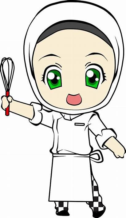 Chef Clipart Cartoon Animated Transparent Cook Hijab