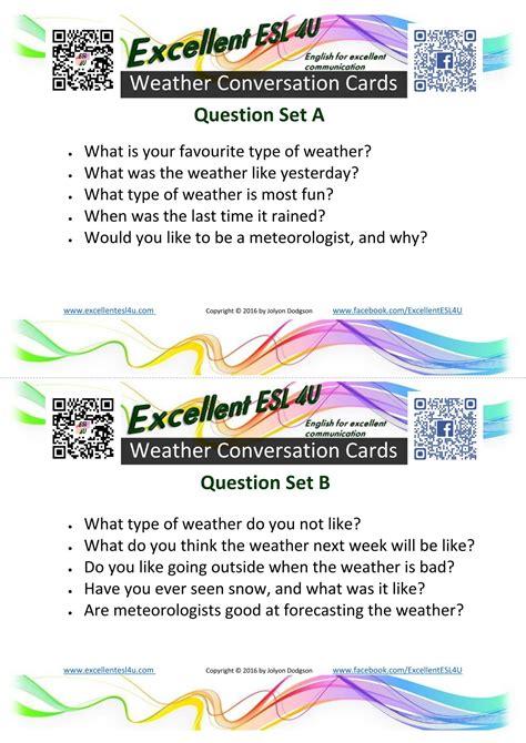 esl weather conversation