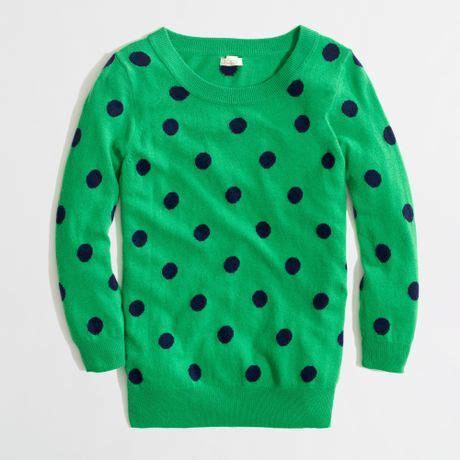 polka dot sweater j crew factory intarsia sweater in polka dot in
