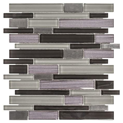Jeffrey Court Mosaic Tile by Jeffrey Court Faded Reed 12 In X 12 In X 8 Mm Glass And