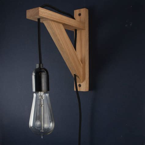 hebden oak wall bracket beside l wall light by dowsing notonthehighstreet
