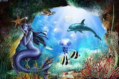Underwater Fantasy Animated Mermaid Cool Desktop Mobile9
