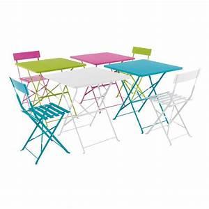 Table De Jardin En Bois Pas Cher : table et chaise de jardin metal mobilier jardin en bois maisonjoffrois ~ Teatrodelosmanantiales.com Idées de Décoration