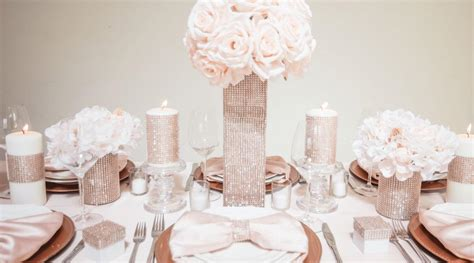 Rose Gold Wedding Decor Tips Totally Dazzled