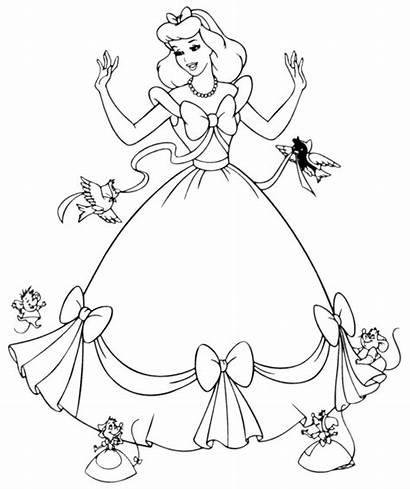Coloring Pages Princess Disney Printable Crafts Cinderella