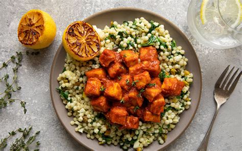tofu  la harissa recette plat vegetarien idee