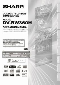 Sharp Dv  Operation Manual