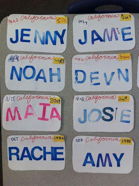 preschool license california transportation week license plates wrote the month 260