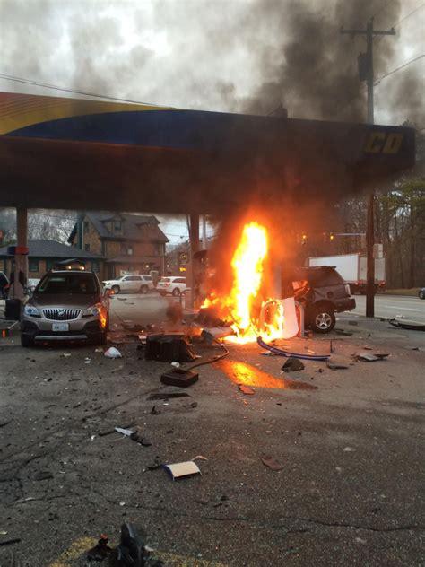 update  dead  car crash  johnston gas station