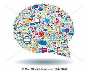 Vectors Illustration of bubble of communication in social ...