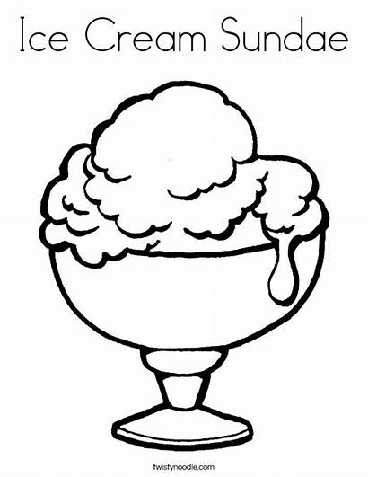 Ice Cream Coloring Sundae Pages Cup Clipart