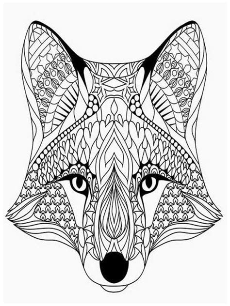 wolf head adult coloring pages