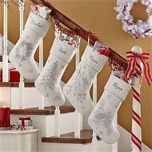 Personalized White Christmas Beaded Velvet Stocking