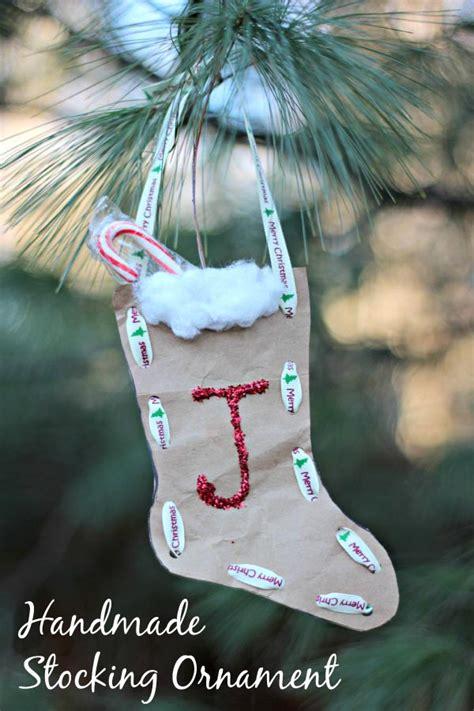 christmas craft paper bag stocking ornament edventures